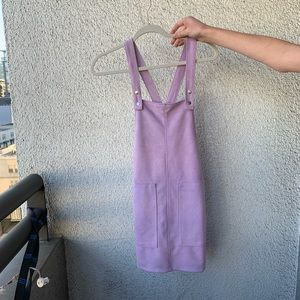 FOREVER 21 PURPLE OVERALL DRESS